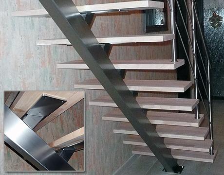 Inox en stalen trappen metaalconstructie inghelbrecht for Trap eikenhout